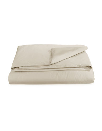 Essential Needs Solid 300-Thread Count Cotton Blend Duvet Cover-BEIGE-Twin
