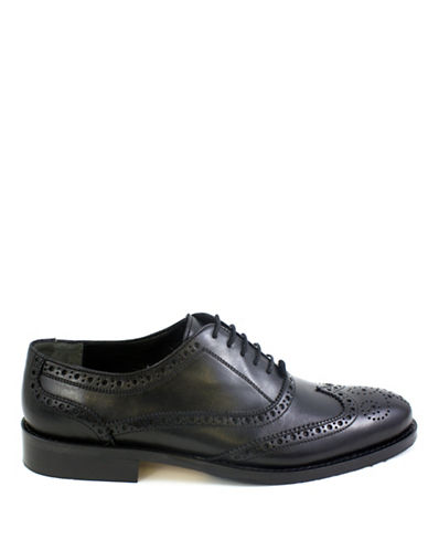Jay+Dee Man Classic Leather Wingtip Brogues-BLACK-EU 42/US 9