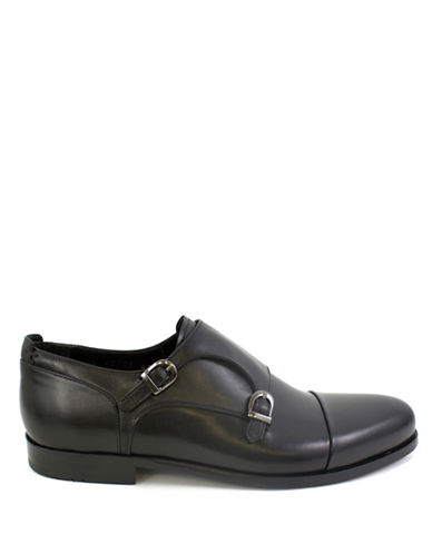 Jay+Dee Man Classic Double Monk Dress Shoes-BLACK-EU 43/US 10