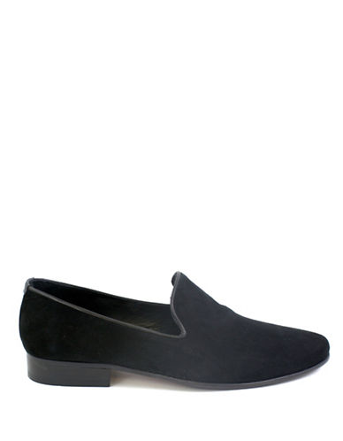 Jay+Dee Man Suede Loafers-BLACK-EU 42/US 9