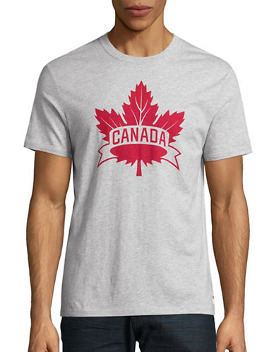 Canadian Olympic Team Collection Mens Core Maple Leaf T-Shirt-GREY-XX-Large 88622658_GREY_XX-Large