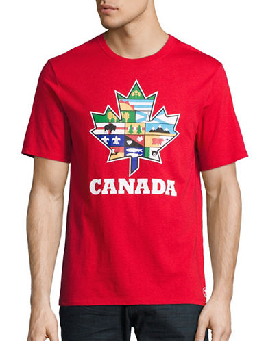 Canadian Paralympic Team Collection Mens Provincial Leaf Tank Top-RED-Medium
