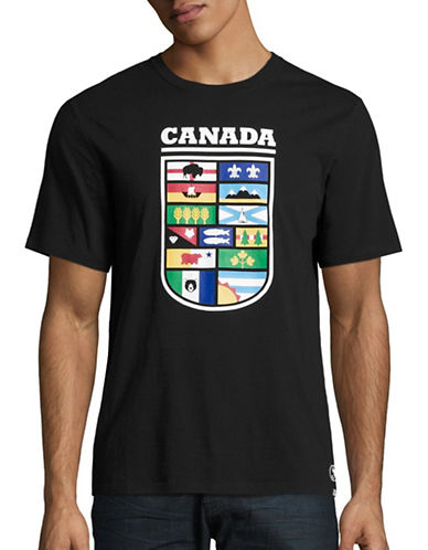 Canadian Paralympic Committee Mens Provincial Shield T-Shirt-BLACK-Small