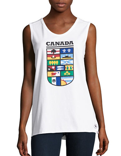 Canadian Paralympic Committee Womens Provincial Shield Tank Top-WHITE-X-Large 88624002_WHITE_X-Large
