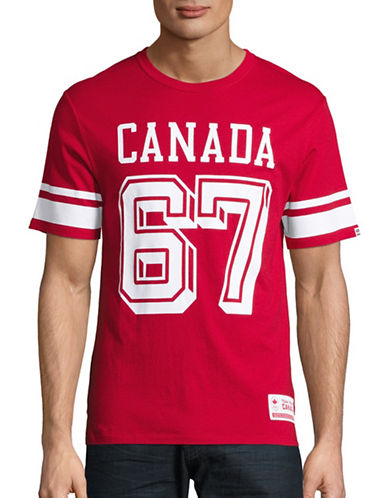 Canadian Olympic Team Collection Mens Canada 67 T-Shirt-RED-Small 88624755_RED_Small
