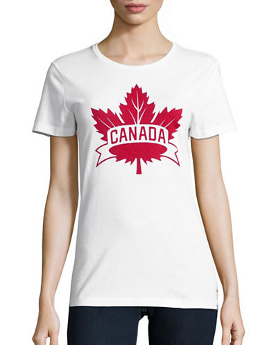 Canadian Olympic Team Collection Womens Core Maple Leaf T-Shirt-WHITE-X-Small 88626917_WHITE_X-Small