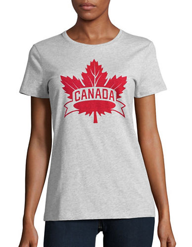 Canadian Olympic Team Collection Womens Core Maple Leaf T-Shirt-GREY-Large 88626925_GREY_Large