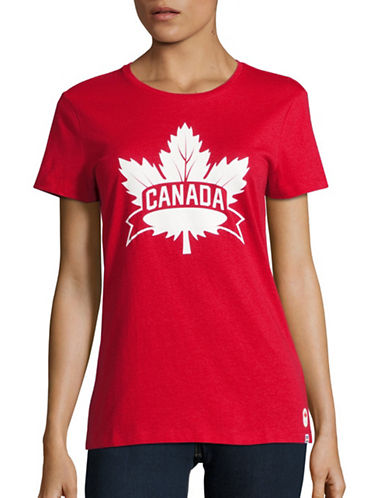 Canadian Olympic Team Collection Womens Core Maple Leaf T-Shirt-RED-X-Large 88626931_RED_X-Large