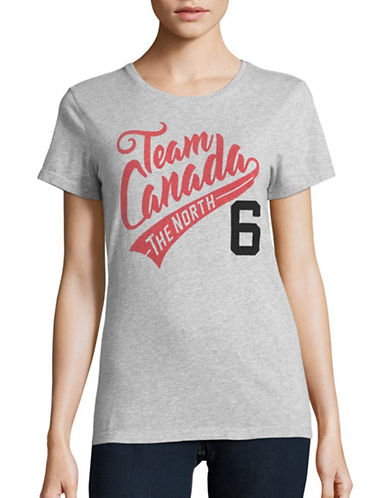 Canadian Olympic Team Collection Womens Team Canada 6 T-Shirt-GREY-Small 88626948_GREY_Small