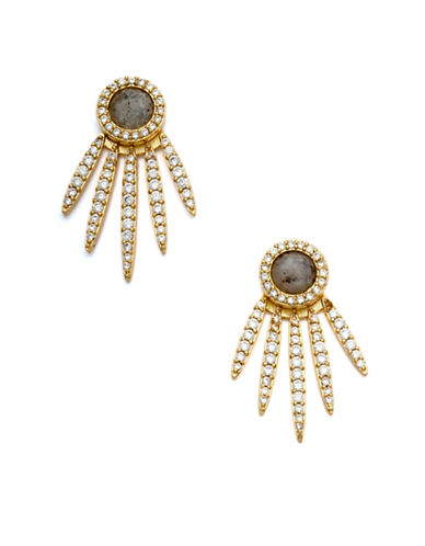Melanie Auld 14K Goldplated, Labradorite and Cubic Zirconia Five-Point Stud-GOLD-One Size