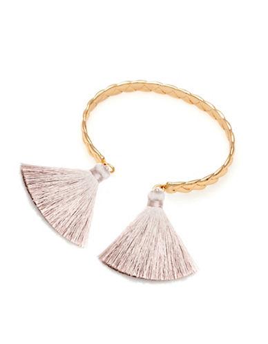 Melanie Auld 14K Goldplated Brass Braided Tassel Cuff-GOLD-One Size