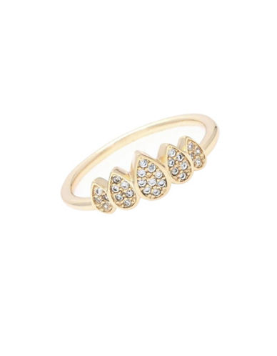 Melanie Auld 14K Goldplated Teardrop Crown Ring-GOLD-One Size