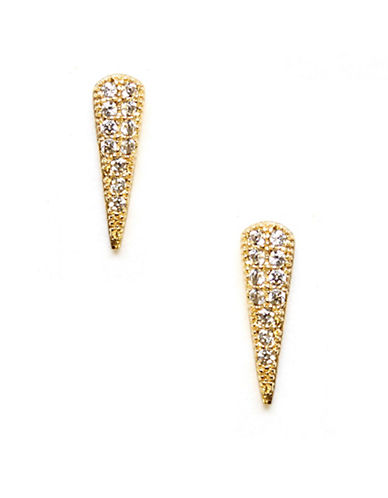 Melanie Auld 14K Goldplated Pave Spike Stud Earrings-GOLD-One Size