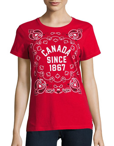 Canadian Olympic Team Collection Womens Canada Since Bandana T-Shirt-RED-Medium 88628139_RED_Medium