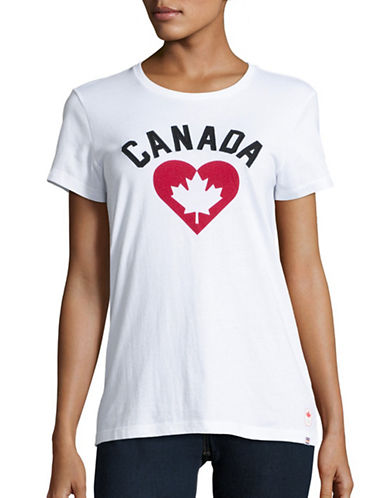 Canadian Olympic Team Collection Womens Canada Heart T-Shirt-WHITE-X-Small 88628162_WHITE_X-Small