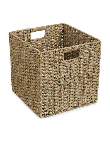 Distinctly Home Foldable Seagrass Crate-NATURAL-One Size