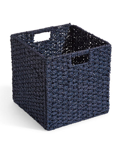 Distinctly Home Foldable Seagrass Crate-BLUE-One Size