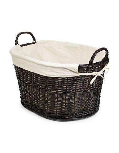 Home Studio Wicker Laundry Basket-BROWN-One Size