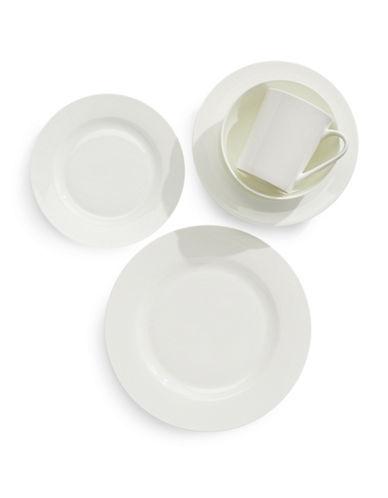 Glucksteinhome Avenue 40-Piece Bone China Dinnerware Set-WHITE-One Size