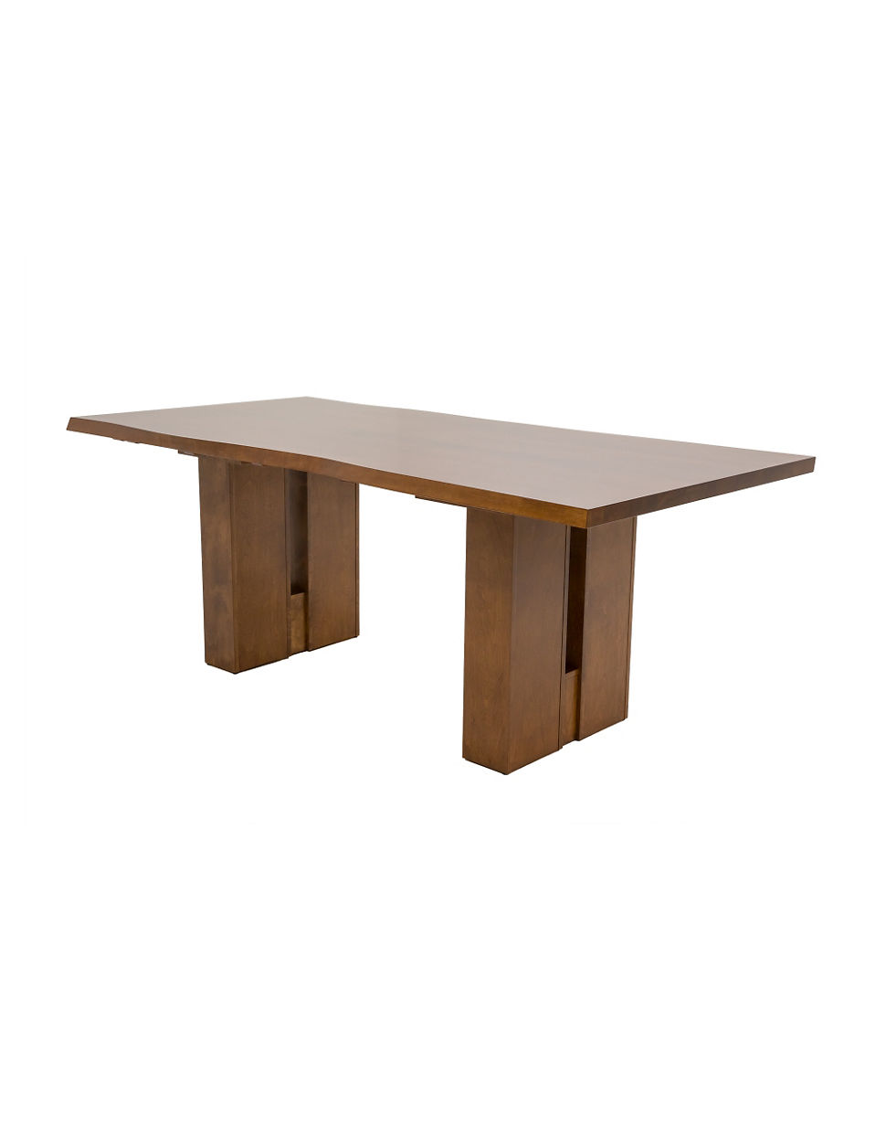 Live Edge Double Pedestal 80 Inch Dining Table