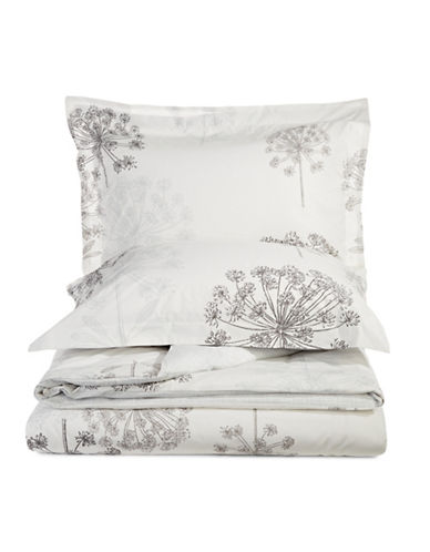 Distinctly Home Three-Piece Bloom Duvet Cover Set-GREY-King