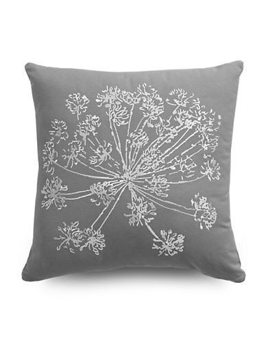 Distinctly Home Posy Square Cushion-GREY-18x18