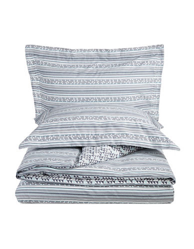 Distinctly Home Three-Piece Mavi Duvet Cover Set-GREY-Queen