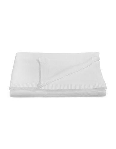 Glucksteinhome Knit Cotton Blanket-WHITE-Queen