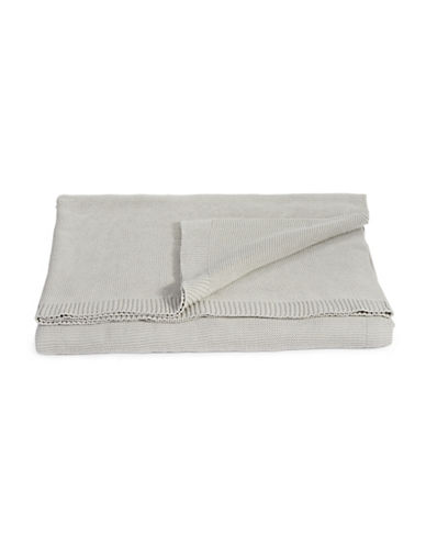 Glucksteinhome Knit Cotton Blanket-GREY-Queen