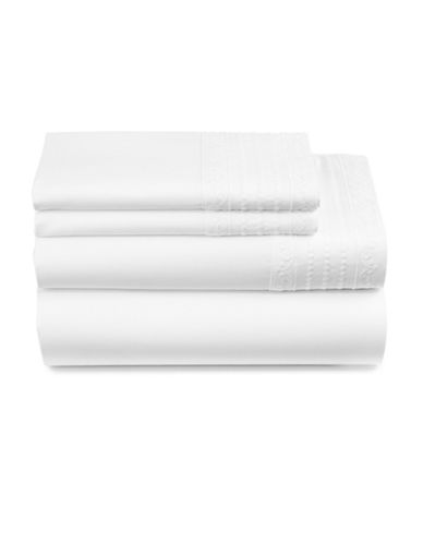 Distinctly Home Everly Four-Piece 450 Thread-Count Cotton Sheet Set-WHITE DOTS-Queen