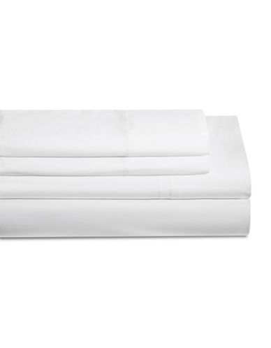 Distinctly Home Four-Piece 200 Thread Count Sheet Set-WHITE-King