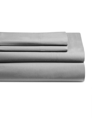 Distinctly Home Four-Piece 200 Thread Count Sheet Set-GREY-King