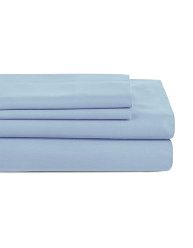 Distinctly Home Four-Piece 200 Thread Count Sheet Set-BLUE-Queen