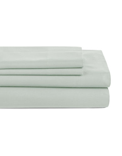 Distinctly Home Four-Piece 200 Thread Count Sheet Set-GREEN-Twin
