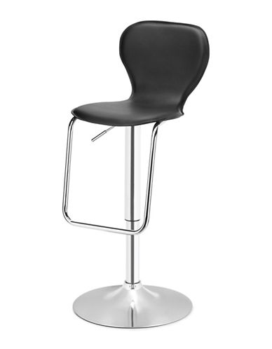 Distinctly Home Oliver Gas Lift Bar Stool-BLACK-One Size