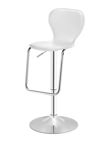 Distinctly Home Oliver Gas Lift Bar Stool-WHITE-One Size
