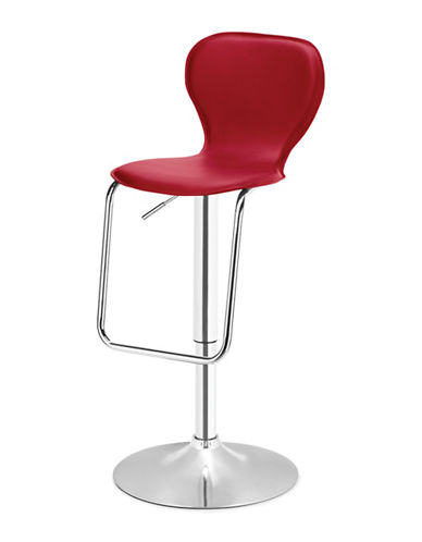 Distinctly Home Oliver Gas Lift Bar Stool-RED-One Size