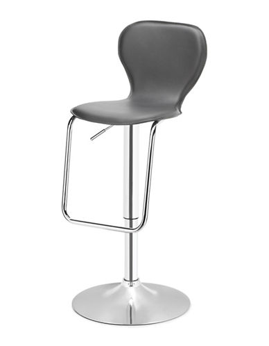 Distinctly Home Oliver Gas Lift Bar Stool-GREY-One Size