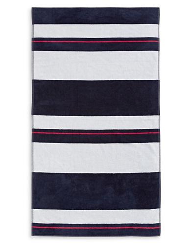 Glucksteinhome Bold Stripe Towel-BLUE-Beach Towel