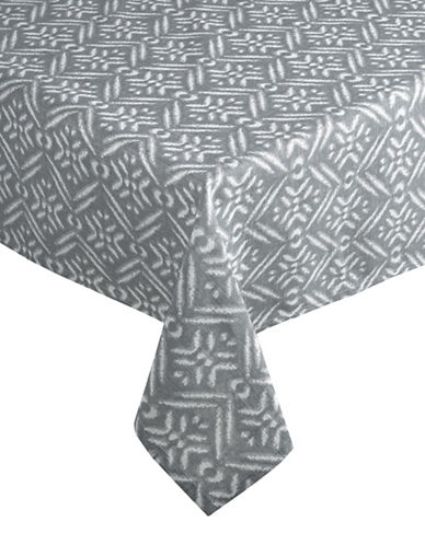 Distinctly Home Block Oblong Tablecloth-GREY-60x102