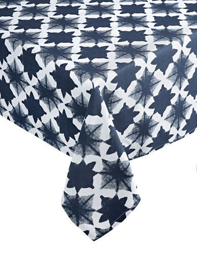 Distinctly Home Tile Tablecloth 60 x 84-INDIGO-One Size