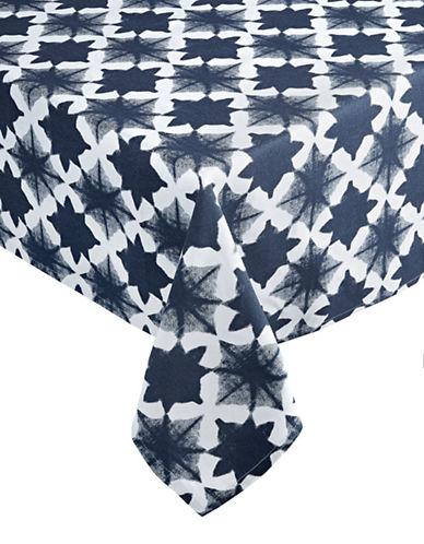 Distinctly Home Tile Tablecloth 60 x 120-INDIGO-One Size