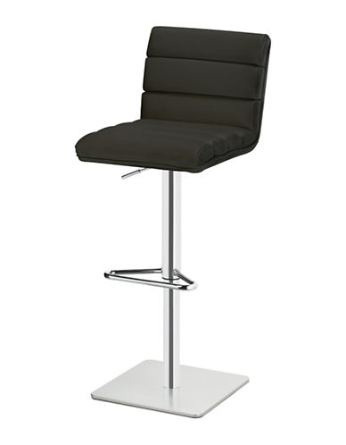 Distinctly Home Chanel Gas Lift Bar Stool-BLACK-One Size