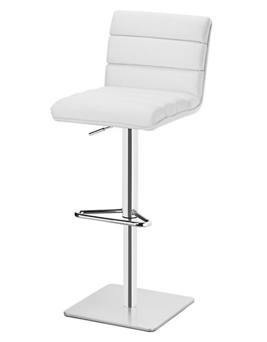 Distinctly Home Chanel Gas Lift Bar Stool-WHITE-One Size