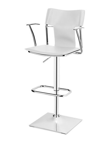 Distinctly Home Sway Gas Lift Bar Stool-WHITE-One Size