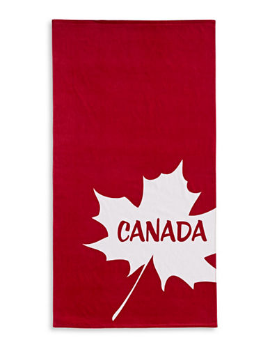 Distinctly Home Big Leaf Runner-RED-Beach Towel