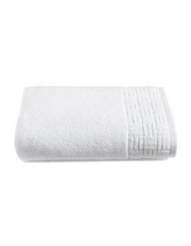 Glucksteinhome Indulgence Turkish Cotton Bath Towel-BRIGHT WHITE-Bath Towel