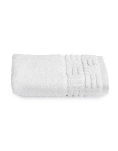 Glucksteinhome Indulgence Turkish Cotton Washcloth-BRIGHT WHITE-Washcloth