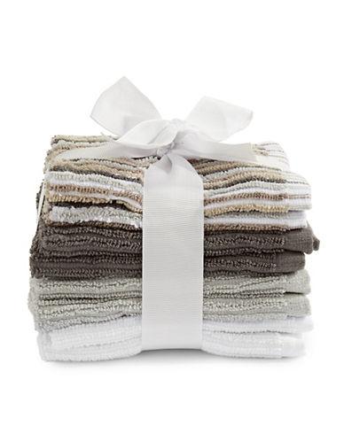 Dh Vibe Eight-Piece Cotton Washcloth Set-GREY-Washcloth
