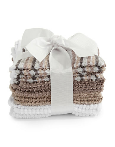 Dh Vibe Eight-Piece Cotton Washcloth Set-TAUPE-Washcloth